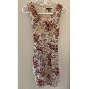Suzy Shier paisley fit & flare dress